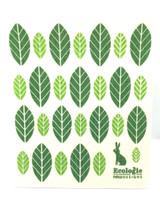 Bunny and Leaves Swedish Dishcloth