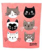 Pretty Kitties Swedish Dishcloth
