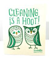 Cleaning Is A Hoot Swedish Dishcloth