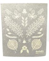 Leaf Sketches Swedish Dishcloth