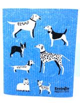 All Kinds of Dogs Swedish Dishcloth