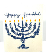 Happy Hanukkah Swedish Dishcloth