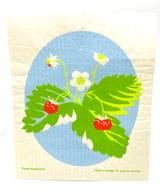 Forest Strawberries Swedish Dishcloth