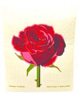 Red Rose Swedish Dishcloth