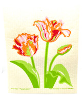 Parrot Tulips Swedish dishcloth