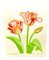 Parrot Tulips Swedish dishcloth