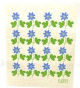 Blue Flower Swedish Dishcloth