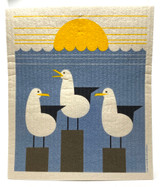 Seagulls Swedish Dishcloth
