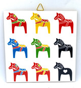 Multicolored Dala Horse Tile Trivet