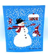 Swedish Snowman Swedish Dishcloth