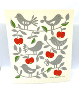 Birds in a Tree Swedish Dishcloth