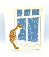 Cat at the Window Swedish Dishcloth