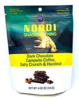 Nordi Snacking Thins Dark Chocolate, Campsite Coffee, Salty Crunch, & Hazelnut