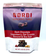 Nordi Snacking Thins with Dark Chocolate, Lingonberry, Oat Crumble, Almonds, & Sea Salt