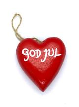 God Jul Ornament (red)