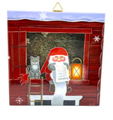 Tomte and Cat in Barn