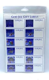 God Jul Gift Labels