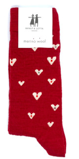 Bengt & Lotta Heart Socks (red)
