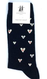 Bengt & Lotta Heart Socks (black)
