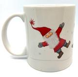 Cartwheeling Tomte Mug