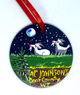 Al Johnson's Night Goat Ornament