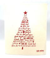 God Jul Christmas Tree Swedish Dishcloth