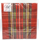 Classic Plaid Dinner Napkins