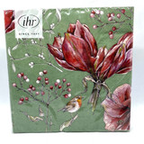 Winter Amaryllis Dinner Napkin