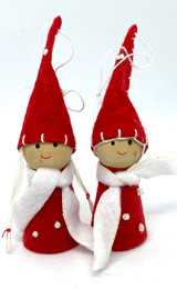 Boy & Girl Ornaments 2 pack