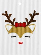 Ms. Reindeer Swedish Dishcloth