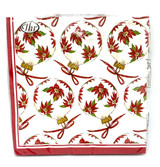 Poinsettia Ornaments Dinner Napkins