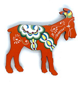 Al Johnson's Dala Goat Magnet