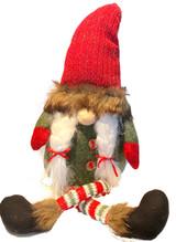 Sitting Fur Hat Tomten Lady