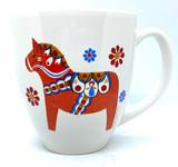 Swedish Dala Horse Bistro Mug