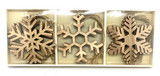 Wood Snowflake Ornament Set