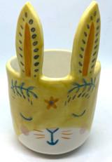 Mini Bunny Planter (Yellow)