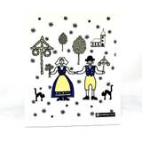 Midsommar Folk Art Swedish Dishcloth