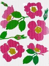 Wild Rose Swedish Dishcloth