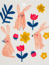 Bunny Flower Swedish Dishcloth