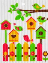 Birdhouse Swedish Dishcloth