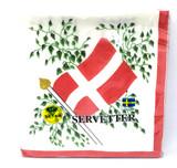 Danish Flag Dinner Napkin