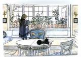 Carl Larsson Flower Window Magnet
