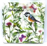 Summer Flowers & Bird Dinner Napkins
