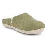 Egos Danish Slippers (moss green)