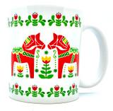 Dala Horse Folk Art Coffee Mug