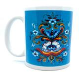 Lise Lorentzen Blue Rosemaling Mug