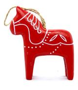 Dala Horse Ornament Red