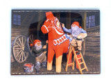 Jan Bergerlind Tomte and Horse Magnet