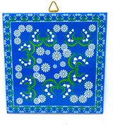 Lily of the Valley & Daisies Tile Trivet