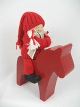 Girl Tomte on Dala Horse